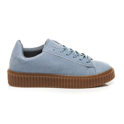 CREEPERS BLUE SUEDE
