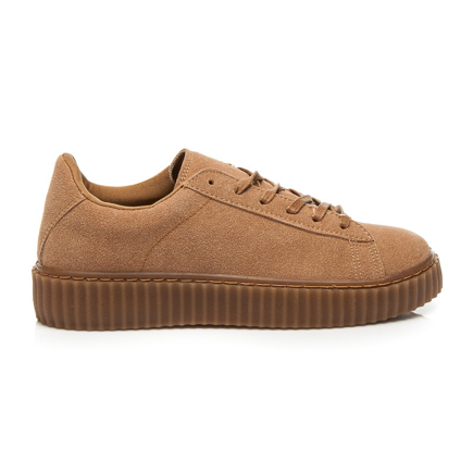CREEPERS CAMEL SUEDE