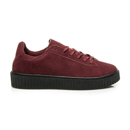 CREEPERS WINE RED SUEDE