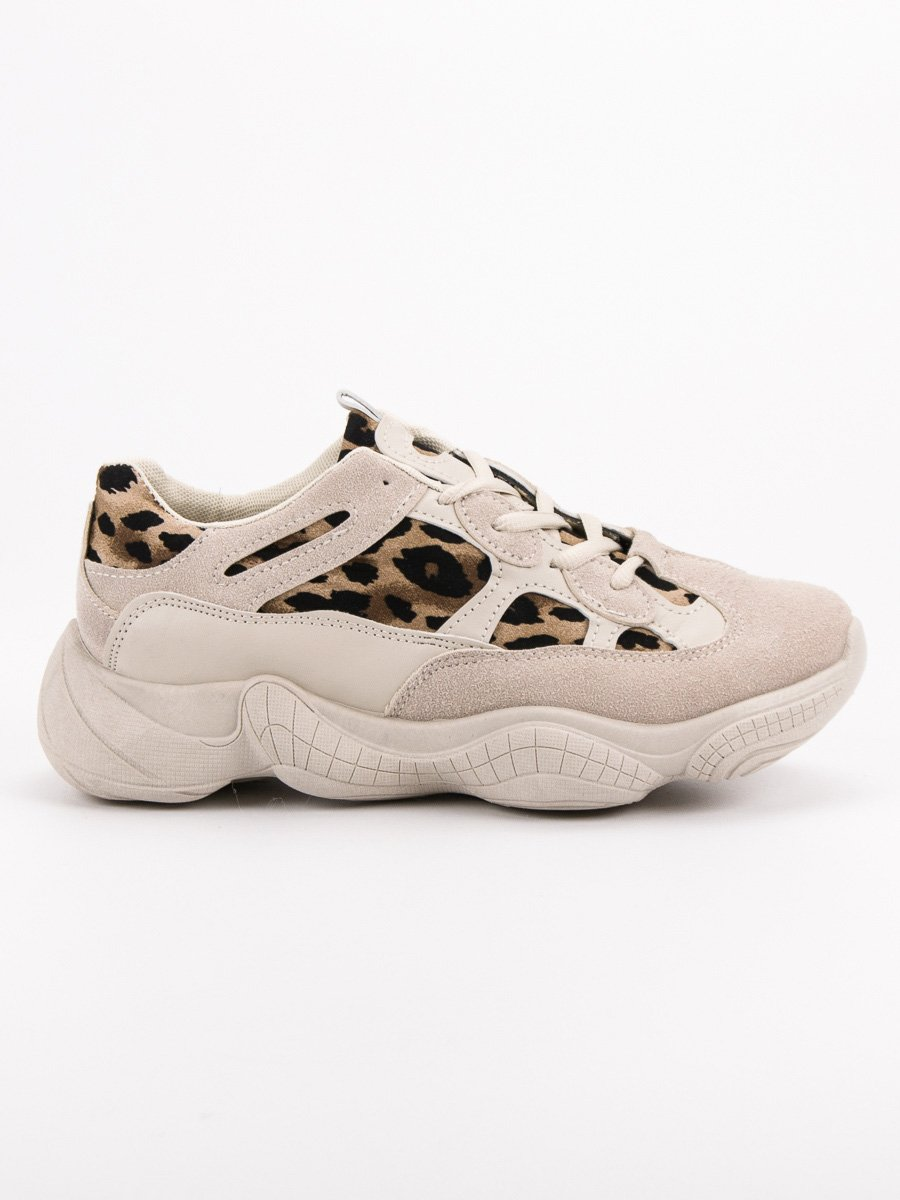 BÉŽOVÉ SNEAKERSY ANIMAL PRINT