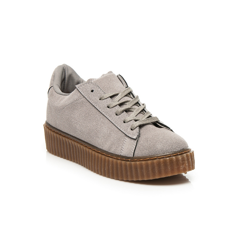 CREEPERS GREY SUEDE