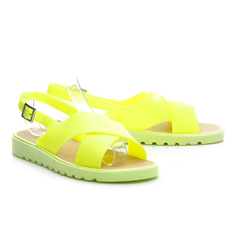 NEON JELLY SANDALS