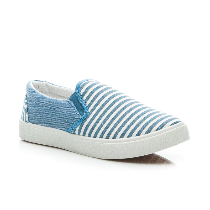 STRIPED SLIP ON