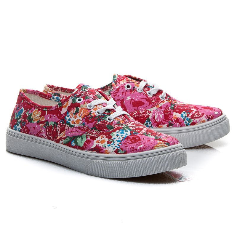 TENISKY RED FLORAL PRINT